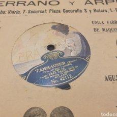 Discos de pizarra: 78 RPM SIGNOR ENEA SALVI TANHAUSER. Lote 252667455
