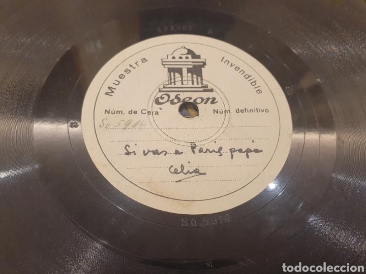78 RPM DISCO MUESTRA INVENDIBLE CELIA GAMEZ (Música - Discos - Pizarra - Flamenco, Canción española y Cuplé)