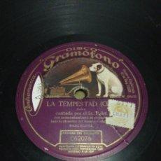 Discos de pizarra: DISCO 78RPM SR PALET LA TEMPESTAD. Lote 252699190