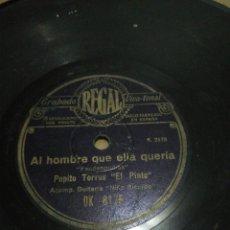 Discos de pizarra: DISCO 78RPM PEPITO TORRES (EL PINTO) HUELVA Y SU PROVINCIA ESTAN.. / AL HOMBRE QUE ELLA QUERIA. Lote 252700185