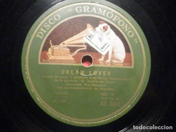 Discos de pizarra: La voz de su Amo AE 3065 - Dream Lover - March of Grenadiers - Desfile de Amor - Jeanette MacDonald - Foto 1 - 252841205