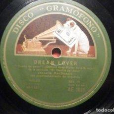 Discos de pizarra: LA VOZ DE SU AMO AE 3065 - DREAM LOVER - MARCH OF GRENADIERS - DESFILE DE AMOR - JEANETTE MACDONALD. Lote 252841205