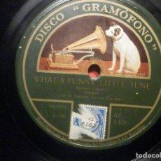 Discos de pizarra: LA VOZ DE SU AMO AE 1406 - WHAT A FUNNY LITTLE TUNE - OH DARLING DO SAY YES - BANDA SAVOY HAVANA. Lote 252842190