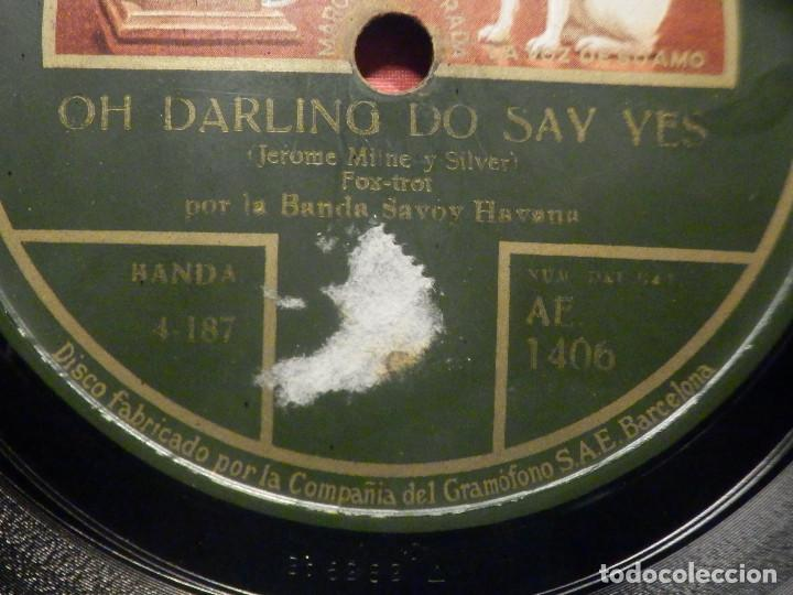 Discos de pizarra: La voz de su Amo AE 1406 - What a Funny Little Tune - Oh Darling do Say yes - Banda Savoy Havana - Foto 3 - 252842190