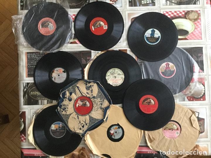 LOTE 11 DISCOS PIZARRA, EN CAJA DE ÉPOCA , FLETA , CARUSO , GORGE , TITTA RUFFO , ODEON , FADAS ... (Música - Discos - Pizarra - Clásica, Ópera, Zarzuela y Marchas)