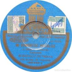 Discos de pizarra: ROSARILLO DE TRIANA - MI SOMBRERO ANDALUZ / MI BAUTIZO. Lote 253480600