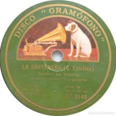 Discos de pizarra: LA TRIANITA - LA SARTENERA / MI MINERA - PROMO!. Lote 253480840