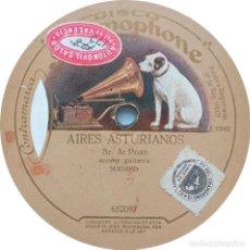 Discos de pizarra: SR. A. POZO - AIRES ASTURIANOS / GUAJIRAS VIDA MÍA. Lote 253482295