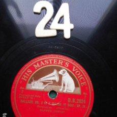 Discos de pizarra: PIZARRA LA VOZ DE SU AMO 12 PULGADAS GRAMOPHONE BALLADE Nº 2 IN F MAJOR ALFRED CORTOT. Lote 253717125