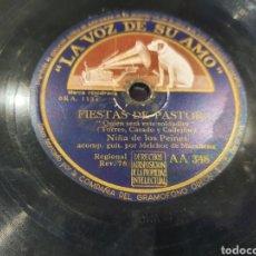 Discos de pizarra: 78 RPM NIÑA DE LOS PEINES. Lote 253829485