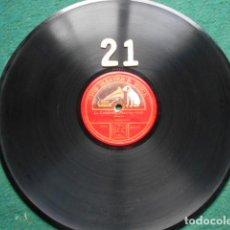 Discos de pizarra: PIZARRA LA VOZ DE SU AMO 12 PULGADAS GRAMOPHONE LA CAMPANELLA PAGANINI. Lote 254030035