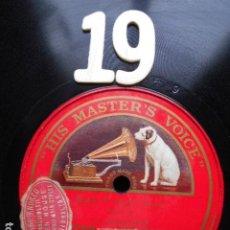 Discos de pizarra: PIZARRA LA VOZ DE SU AMO 12 PULGADAS GRAMOPHONE ETUDE F MINOR LIST PIANO. Lote 254030860