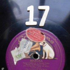 Discos de pizarra: PIZARRA LA VOZ DE SU AMO 12 PULGADAS GRAMOPHONE MARUXA I Y II MADRID. Lote 254032580