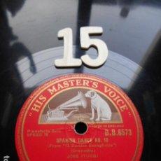 Discos de pizarra: PIZARRA LA VOZ DE SU AMO 12 PULGADAS GRAMOPHONE SPANISH DANCE ºNº 10 Y 5 JOSE ITURBE. Lote 254033545