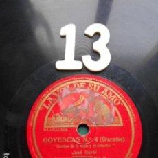 Discos de pizarra: PIZARRA LA VOZ DE SU AMO 12 PULGADAS GRAMOPHONE GOYESCASNº4 GRANADOS SEVILLANA Nº 3 ALBENIZ. Lote 254034740