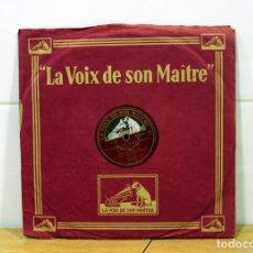 Discos de pizarra: DISCO DE PIZARRA MAURICE CHEVALIER. (MA POMME Y LE CHAPEAU DE ZOZO). Lote 254403380