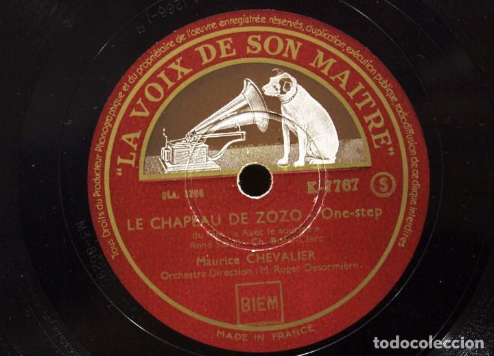 Discos de pizarra: DISCO DE PIZARRA MAURICE CHEVALIER. (MA POMME Y LE CHAPEAU DE ZOZO) - Foto 5 - 254403380
