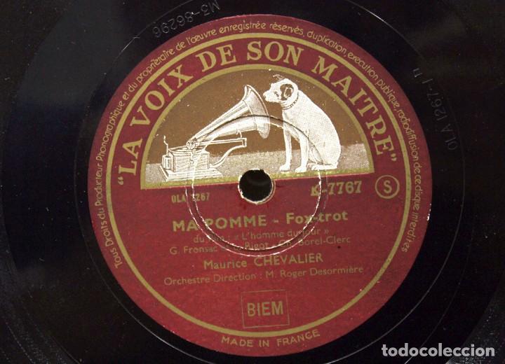 Discos de pizarra: DISCO DE PIZARRA MAURICE CHEVALIER. (MA POMME Y LE CHAPEAU DE ZOZO) - Foto 6 - 254403380