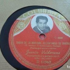 Discos de pizarra: JUANITO VALDERRAMA DEL ALBAICIN A LA ALHAMBRA/ SABOR DE LA MARISMA- RECONTANDO SU DINERO. Lote 254403635