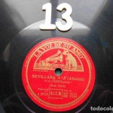 Discos de pizarra: SEVILLANA Nº 3 ALBENIZ PIZARRA. Lote 256126560