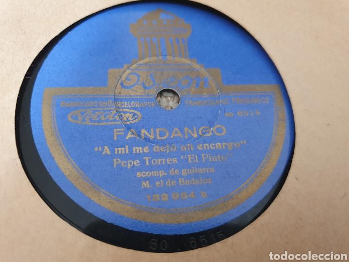 Discos de pizarra: 78 RPM PEPE TORRES EL PINTO - Foto 2 - 256157450