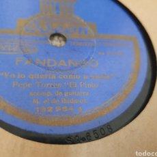 Discos de pizarra: 78 RPM PEPE TORRES EL PINTO. Lote 256157450