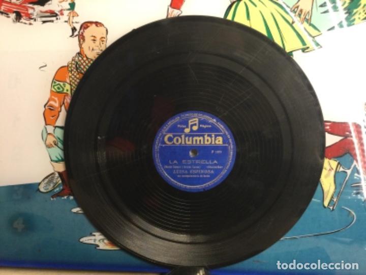 DISCO PIZARRA DE PUBLICIDAD DE RADIO - LA ESTRELLA - LUISA ESPINOSA (REF-12) (Música - Discos - Pizarra - Bandas Sonoras y Actores )