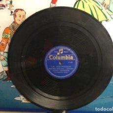 Discos de pizarra: DISCO PIZARRA DE PUBLICIDAD DE RADIO - LA ESTRELLA - LUISA ESPINOSA (REF-12). Lote 257326065