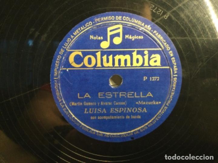 Discos de pizarra: DISCO PIZARRA DE PUBLICIDAD DE RADIO - LA ESTRELLA - LUISA ESPINOSA (ref-12) - Foto 2 - 257326065