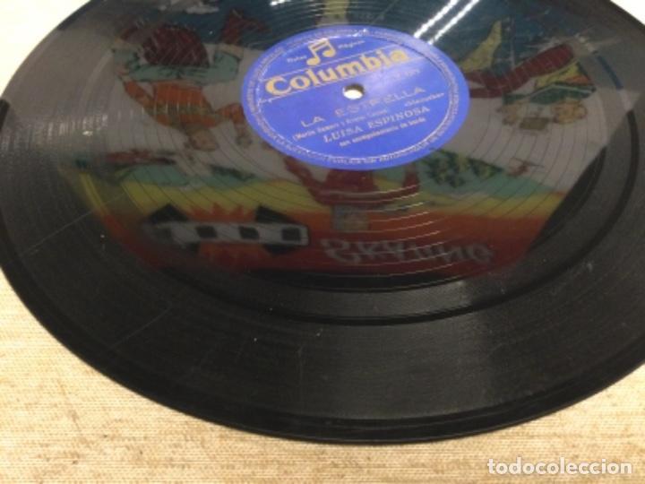 Discos de pizarra: DISCO PIZARRA DE PUBLICIDAD DE RADIO - LA ESTRELLA - LUISA ESPINOSA (ref-12) - Foto 3 - 257326065