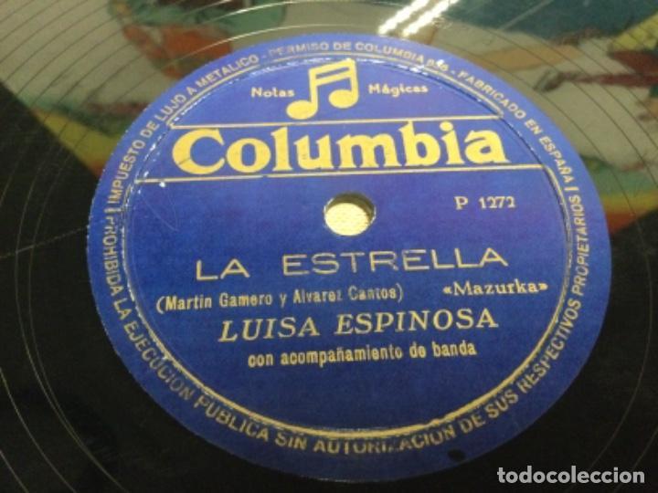 Discos de pizarra: DISCO PIZARRA DE PUBLICIDAD DE RADIO - LA ESTRELLA - LUISA ESPINOSA (ref-12) - Foto 9 - 257326065