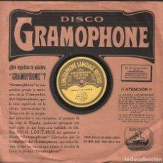 Discos de pizarra: DISCO DE 78 R.P.M. (PIZARRA) - THE LINGUAPHONE LANGUAGE RECORD (DEUTSCHER KURSUS 3ª LEKTLON) RF-9510. Lote 257329315