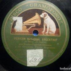 Discos de pizarra: PIZARRA GRAMÓFONO - TRIO ARGENTINO - IRUSTA - FUGAZOT-DEMARE - PERICÓN NACIONAL - AMURADO - TANGO. Lote 257908370