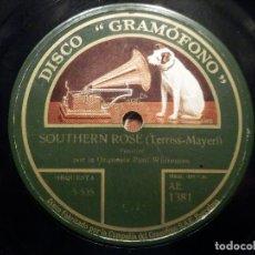 Discos de pizarra: PIZARRA GRAMÓFONO AE 1381 - ORQUESTA PAUL WHITEMAN - SOTHTERN ROSE - CHARLESTON. Lote 258059375