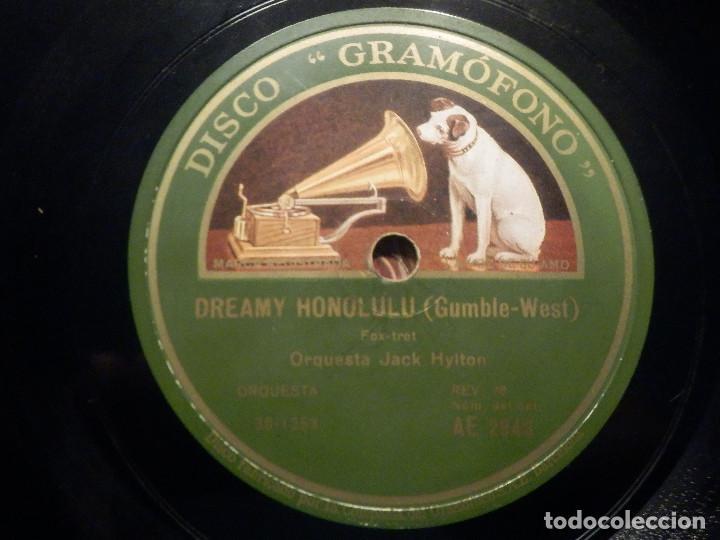 PIZARRA GRAMÓFONO AE 2948 - ORQUESTA JACK HYLTON - AIN´T MISBEHAVIN - DREAMY HONOLULU (Música - Discos - Pizarra - Bandas Sonoras y Actores )