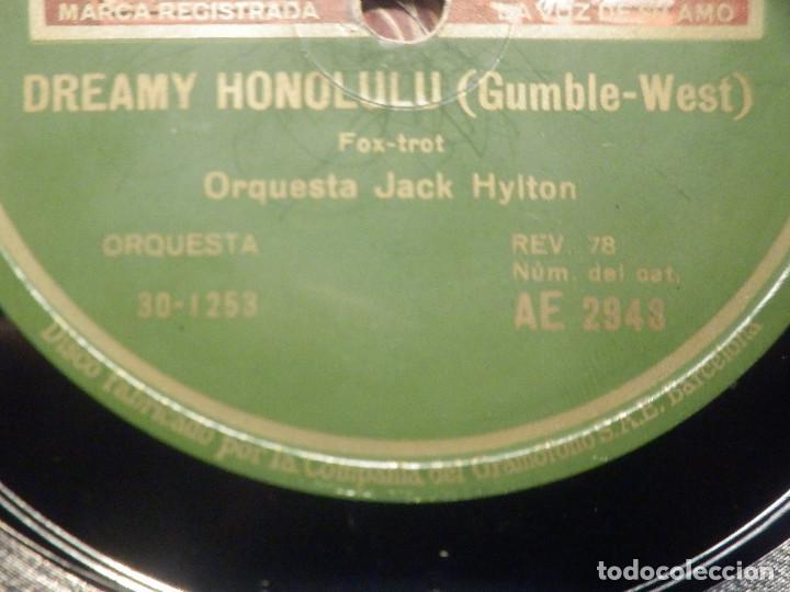 Discos de pizarra: Pizarra Gramófono AE 2948 - Orquesta Jack Hylton - Ain´t Misbehavin - Dreamy Honolulu - Foto 2 - 258060040