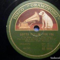 Discos de pizarra: PIZARRA GRAMÓFONO AE 2899 - ORQUESTA HIGH HATTERS - LOW DOWN RHYTHM - GOTTA FEELIN FOR YOU -. Lote 258060390