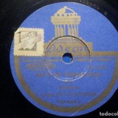 Discos de pizarra: PIZARRA ODEON 182.565 - COBLA. ELS MONTGRINS - MAR DE XALOCH - MATI DE PRIMAVERA. Lote 258060810
