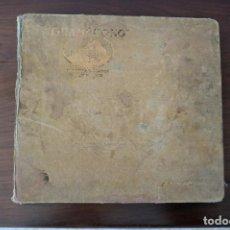 Disques en gomme-laque: ALBUM GRAMÓFONO CON 10 DISCOS DE PIZARRA ESPAÑOLES E ITALIANOS AÑOS 30 - 40. Lote 260517495