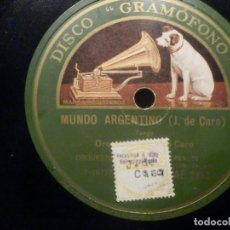 Discos de pizarra: PIZARRA GRAMOFONO AE 2953 - AROMAS, MUNDO ARGENTINO - ORQUESTA J. CARO - OSVALDO FRESEDO. Lote 260815690