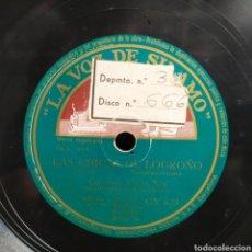 Discos de pizarra: CUARTETO VOCAL XEY - LOS CANTARES DE LA RIOJA / LAS CHICAS DE LOGROÑO. Lote 261191100