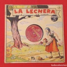 Discos de pizarra: DISCO DE PIZARRA INFANTIL LA LECHERA. Lote 261195060