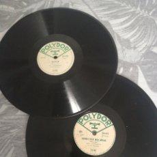 Discos de pizarra: DISCO 78RPM LOTE 2 POLYDOR GUY LUYPAERTS FRANCIA. Lote 261252740