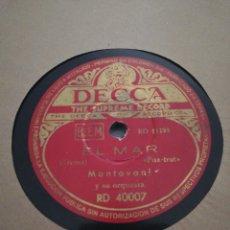 Discos de pizarra: 2 DISCOS 78RPM MONTAVANI Y BING CROSBY. Lote 261261925