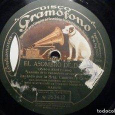 Discos de pizarra: PIZARRA GRAMÓFONO W 263432 - EL ASOMBRO DE DAMASCO, VENDEDORA DE ESENIAS, SRTA. CASTRILLO, EL ALIMÓN. Lote 261345595