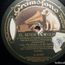 Discos de pizarra: GRAMÓFONO W 254359 EL SEÑOR PANDOLFO - DUO COLOMBINA Y PIERROT - STRA. MAYENDIA, SR. PINO. Lote 261519175