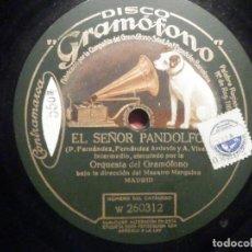 Discos de pizarra: GRAMÓFONO W 260312 EL SEÑOR PANDOLFO - GROTESCA, INTERMEDIO - SR ORTAS - FERNÁNDEZ ARDAVIN, A. VIVES. Lote 261521115
