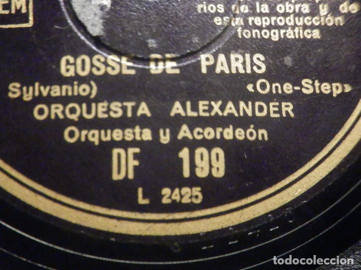 Discos de pizarra: Pizarra Regal DF 199 - Orquesta Alexander - De película Sous les toits de Paris - Gosse de Paris - Foto 2 - 261570965