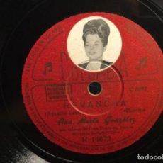 Discos de pizarra: DISCO PIZARRA - ANA MARIA GONZALEZ, - MADRID - REVANCHA - COLUMBIA (REF,1). Lote 261632940