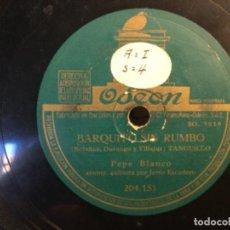 Discos de pizarra: DISCO PIZARRA-OSEON- EL GRANATE - BARQUITO SIN RUMBO - PEPE BLANCO (REF-15). Lote 261664910